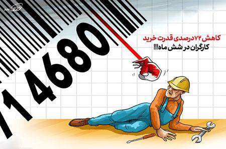کاهش ۷۲درصدی قدرت خرید